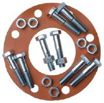 Full Face Red Rubber Bolt and Gasket Sets – Integrity Pipeline Products